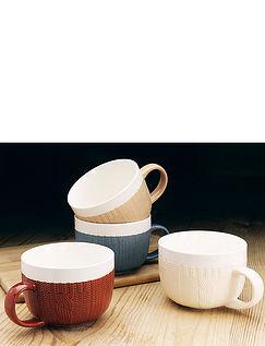 Set Of 4 Woolly Jumper Bowls/Mugs