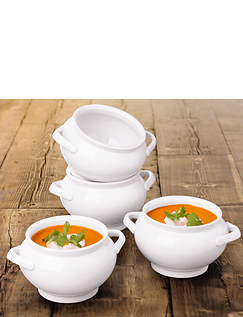Set of 4 Extra Deep Soup Tureens