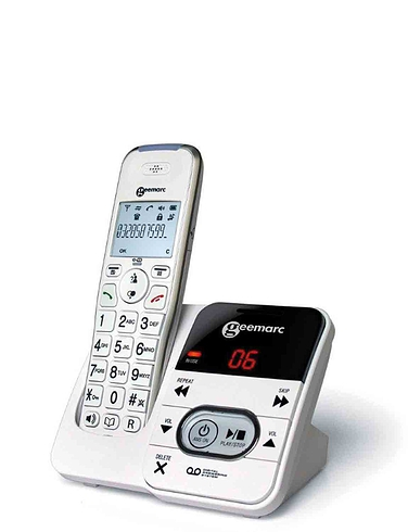 Single Amplified Cordless Telephone And Answer Machine