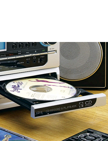 6-In-1 Modular Music System With CD Burner and Stereo Sound DAB Radio
