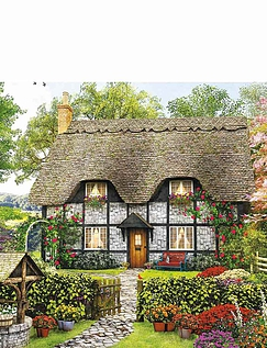 Florists Cottage -  500pc Jigsaw Puzzle
