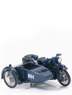 Royal Navy Armed Forces Motorcycle and Side Car
