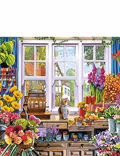 Floras Flower Shoppe - 1000pc Jigsaw Puzzle