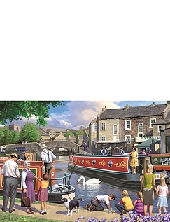 Sundays on the Canal - 1000pc Jigsaw Puzzle