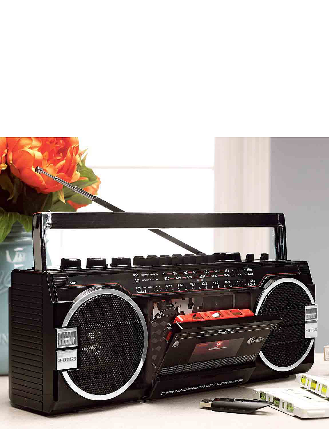 Three In One Stereo Radio Cassette Player - Black