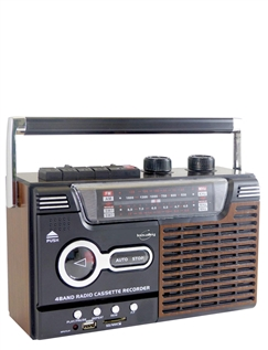 4 Band Radio with Cassette Player