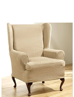 2 Way Easy Fit Wing Chair Furniture Cover