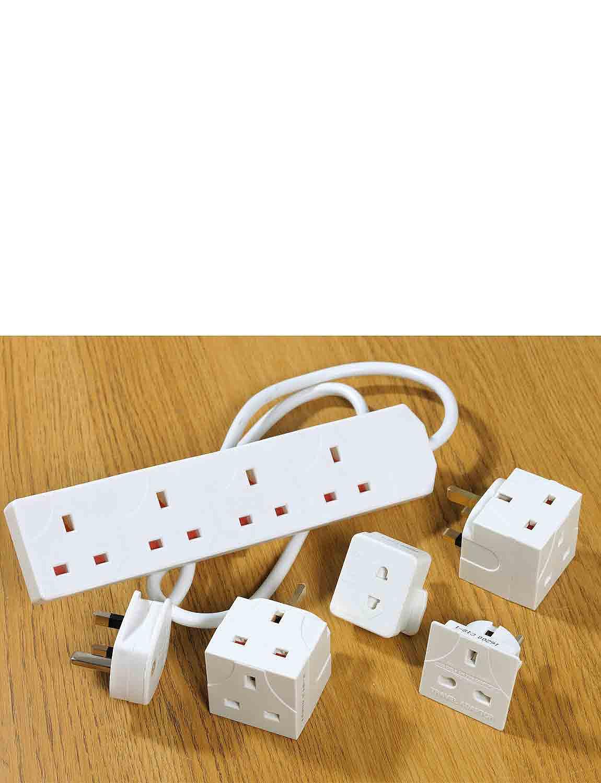 Energy Saving Plug Extensions - White