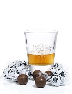 Jim Beam Truffles and Glass