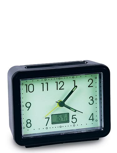 Glow In The Dark Alarm Clock With Temperature Gauge