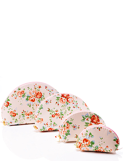 Floral Cosmetic Bag Set