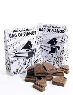 Milk Chocolate Pianos 100g