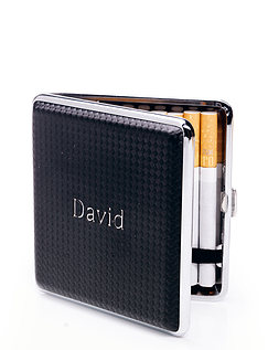 Personalised Cigarette Case With Integrated Lighter