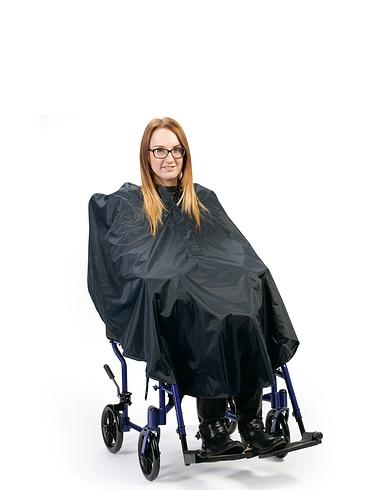 Flat Hem Wheelchair Poncho