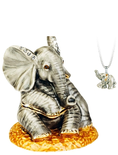 Elephant Hidden Treasures Trinket Box