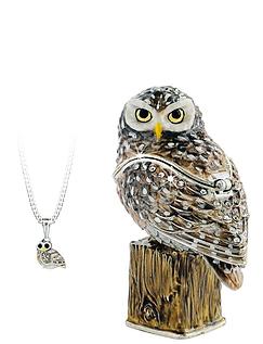 Owl Hidden Treasures Trinket Box