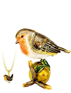 Robin Hidden Treasures Trinket Box