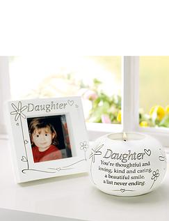 Daughter Tea Light and Frame Set