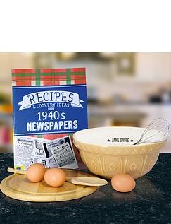 Personalised Through The Decades Recipe Book Set
