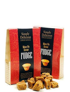 Mince Pie Flavoured Fudge 150g
