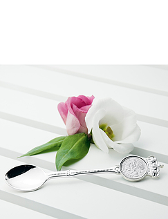 Personalised Silver Lucky Sixpence Teaspoon