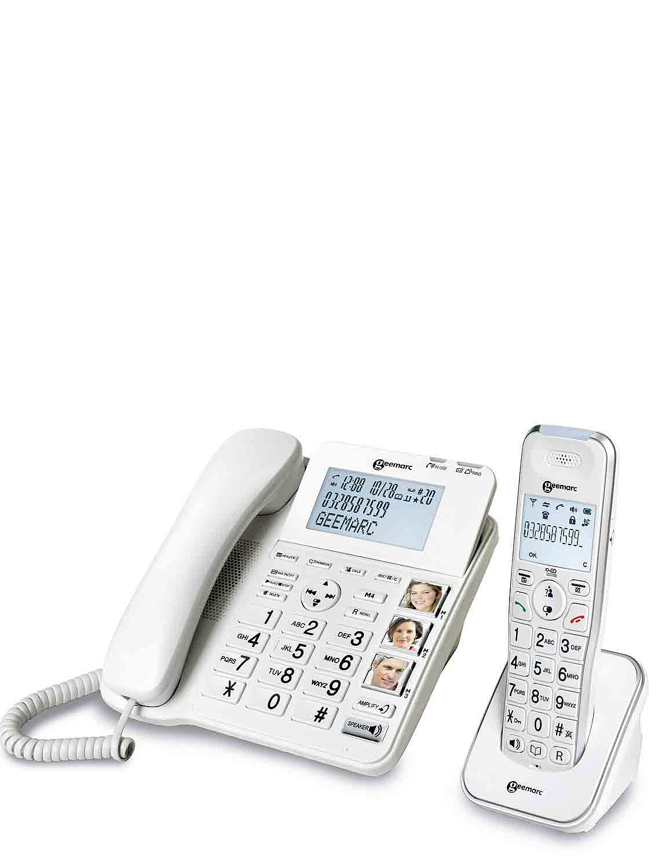 Geemarc Combination Telephone - White