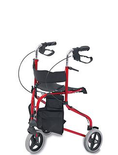 Steel Tri Wheel Walker with Seat