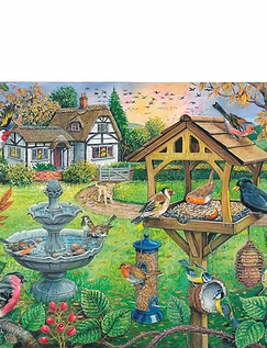 Bird Table Extra Large Jigsaw