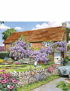 Wisteria Cottage Extra Large Jigsaw