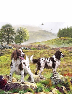 Spaniels on the Moor Jigsaw