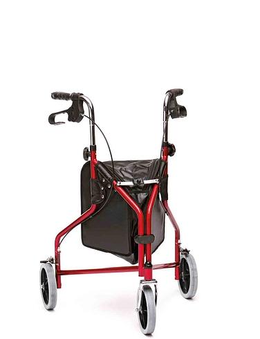 Indoor and Outdoor Steel Tri Wheel Walker