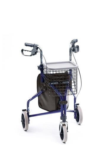Deluxe Indoor/Outdoor Aluminium Tri Wheel Walker