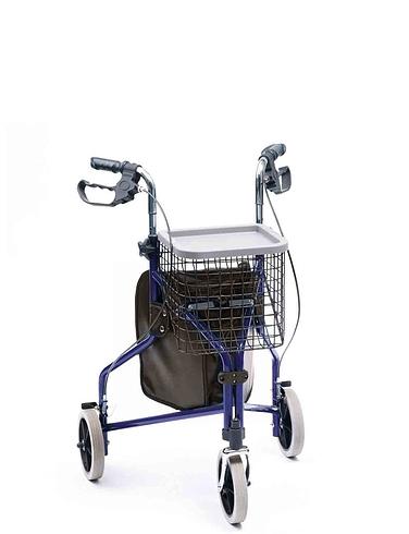 Deluxe Aluminium Tri Wheel Walker