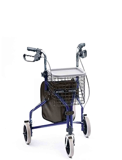 Deluxe Indoor and Outdoor Aluminium Tri Wheel Walker