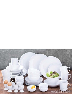 42 Piece Simply White Dinner Set