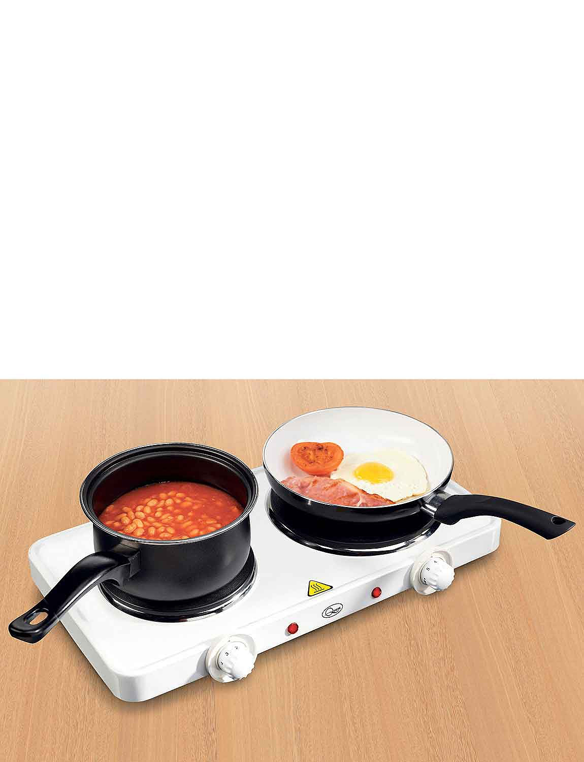 Double Hot plate - White