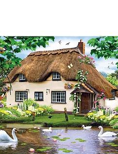 Swan Cottage 1000 Piece Jigsaw