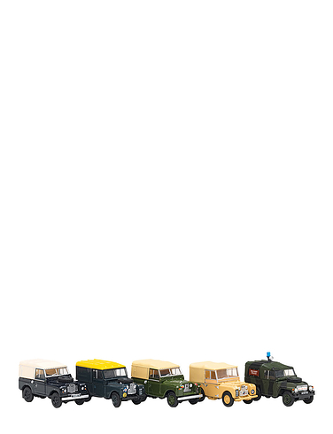Set of 10 Historic Military Land Rovers - In a Presentation Box