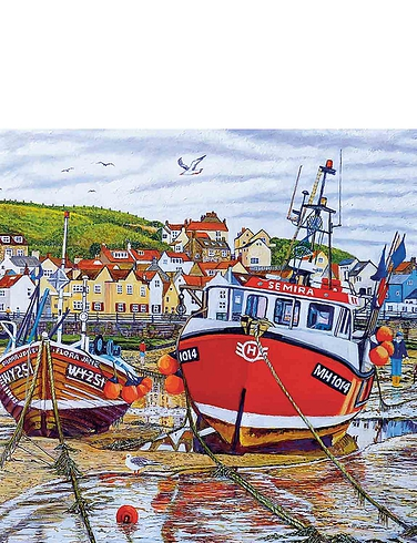 Seagulls at Staithes - Jigsaw