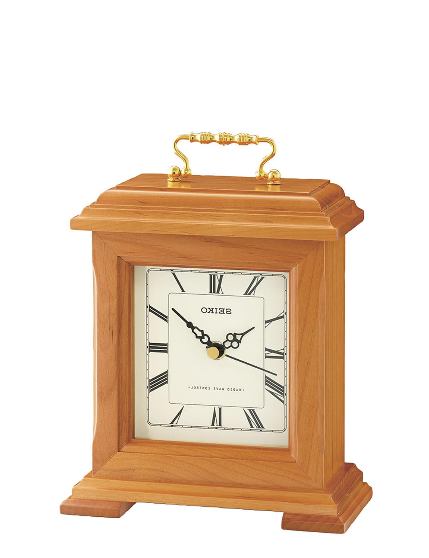 Seiko Radio Controlled Mantle Clock  - OAK