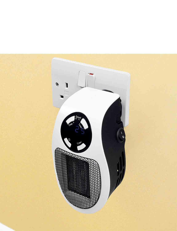 Powerful Mini Cyclone Ceramic Heater - White
