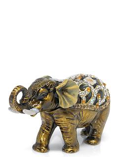 Elephant Treasured Trinket Box
