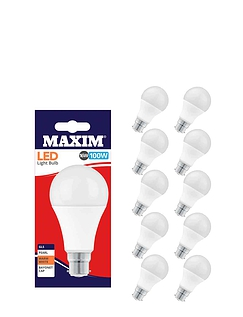 Set of Five 16W Standard Bayonet Lifetime Bulbs