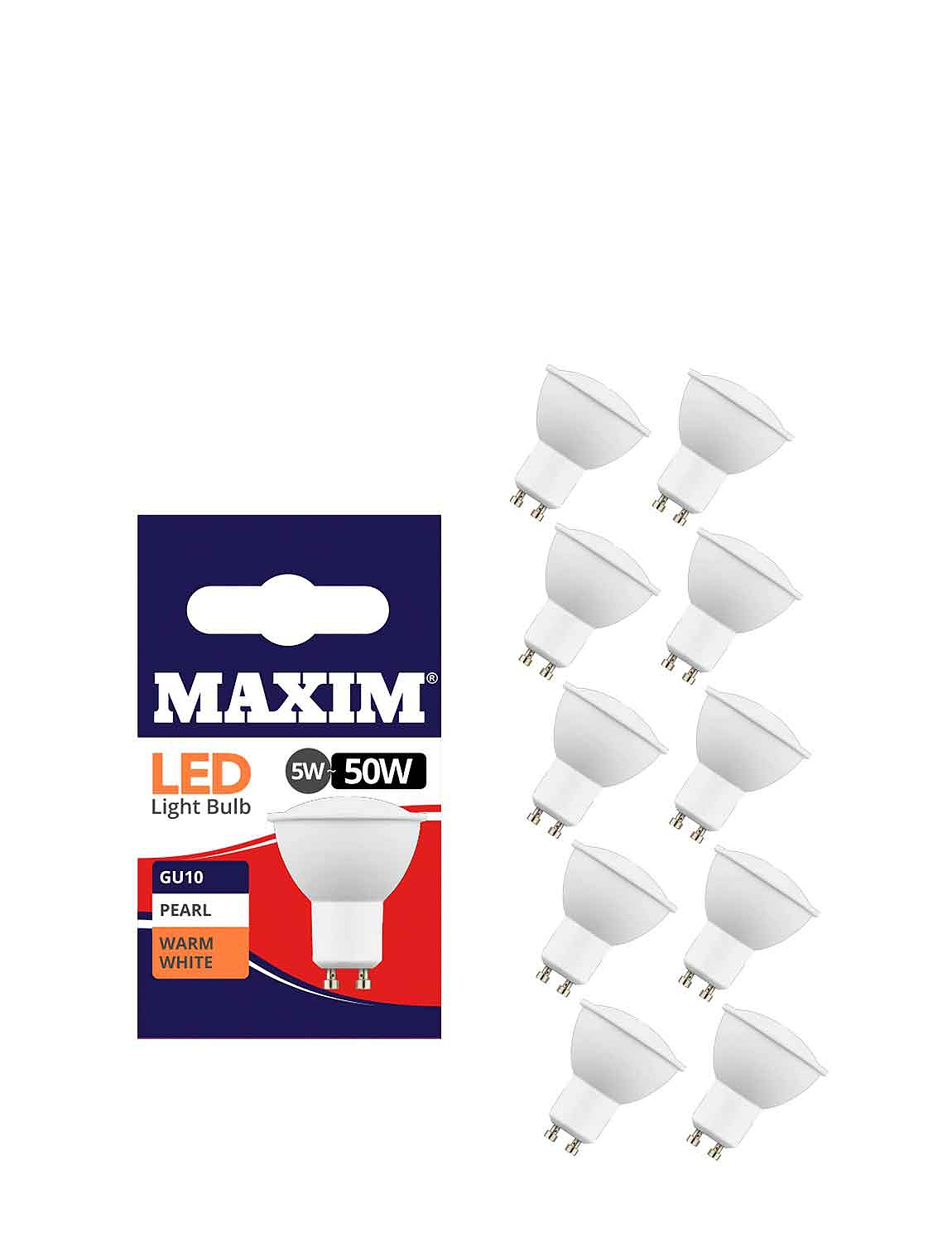 5w Lifetime LED Spotlight Bulb Fit Set of 5  - MULTI