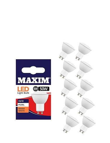 Led Spotlight Gu10 Fitting Lifetime Bulbs Set Of 5