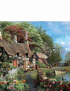 Riverside in Bloom Jigsaw Puzzle