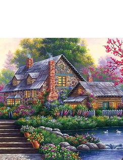 Romantic Cottage Jigsaw Puzzle