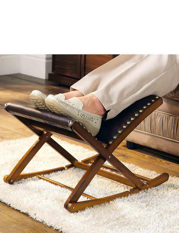 Adjustable Rocking Footrest - Mahogany