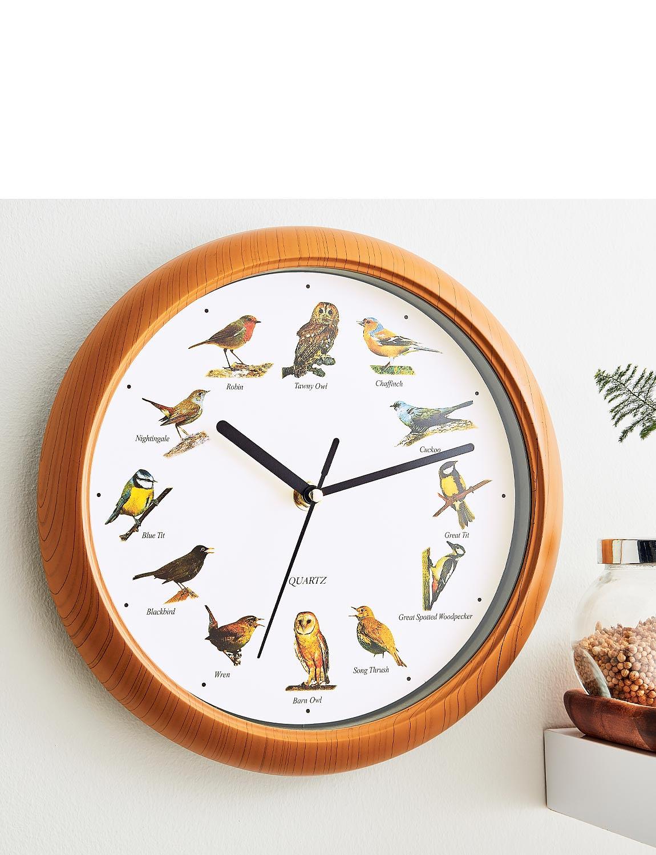 Bird Song Clock - Wood