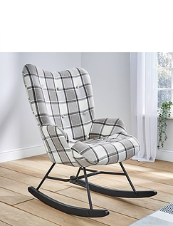 Traditional High-Back Rocking Chair